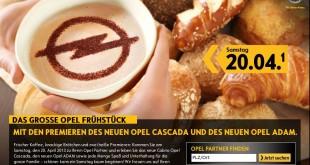 gratis frühstück bei opel