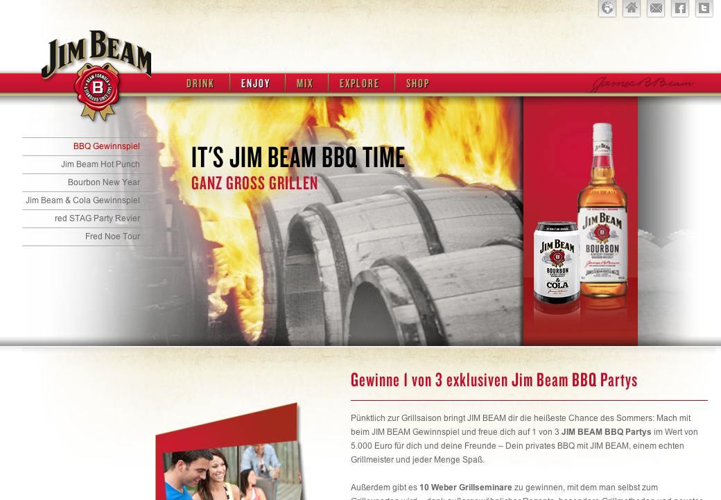 JimBeam BBQ Gewinnspiel