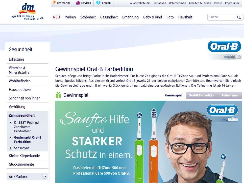 DM Produkttester gesucht - oral b