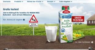 milram buttermilch gratis testen aktion