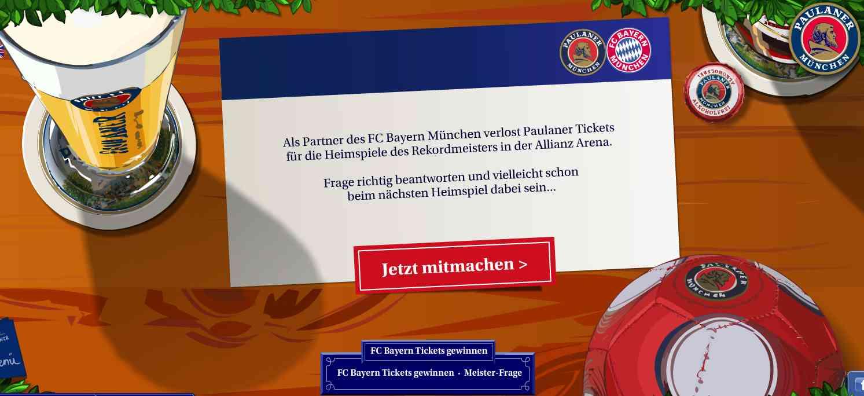 paulaner fcbayern ticket gewinnspiel