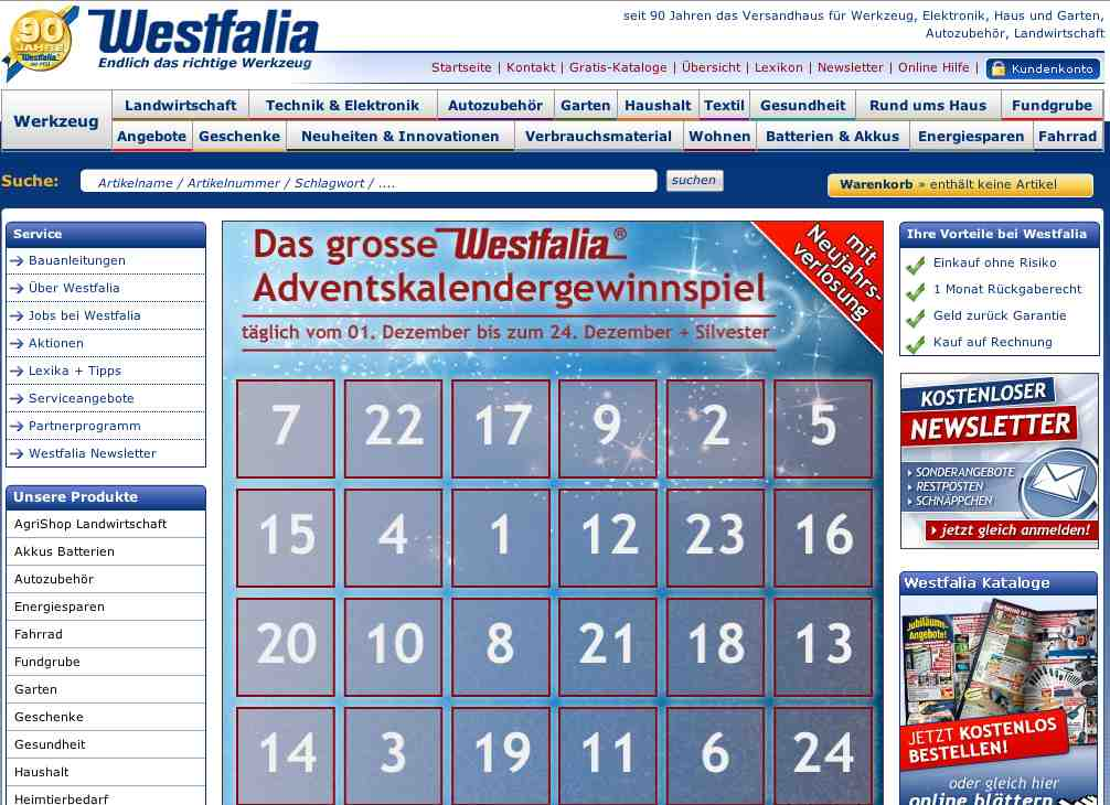 adventskalender westfalia