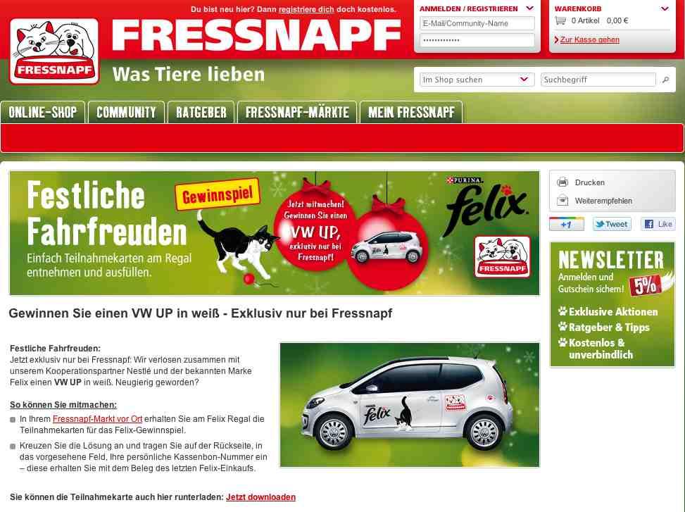 www.fressnapf.de gewinnspiel