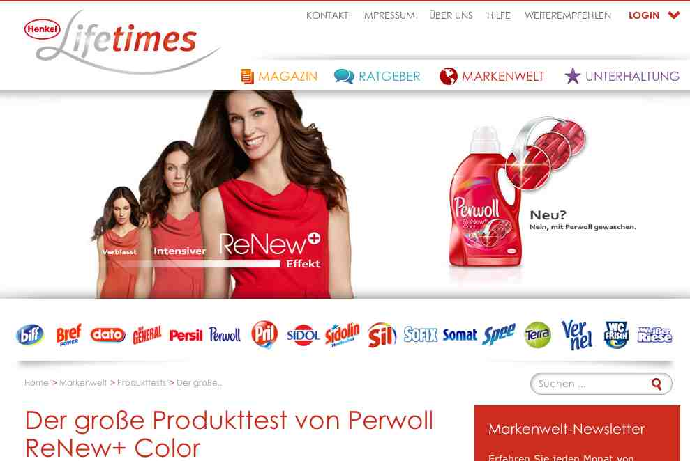 perwoll renew color produkttest