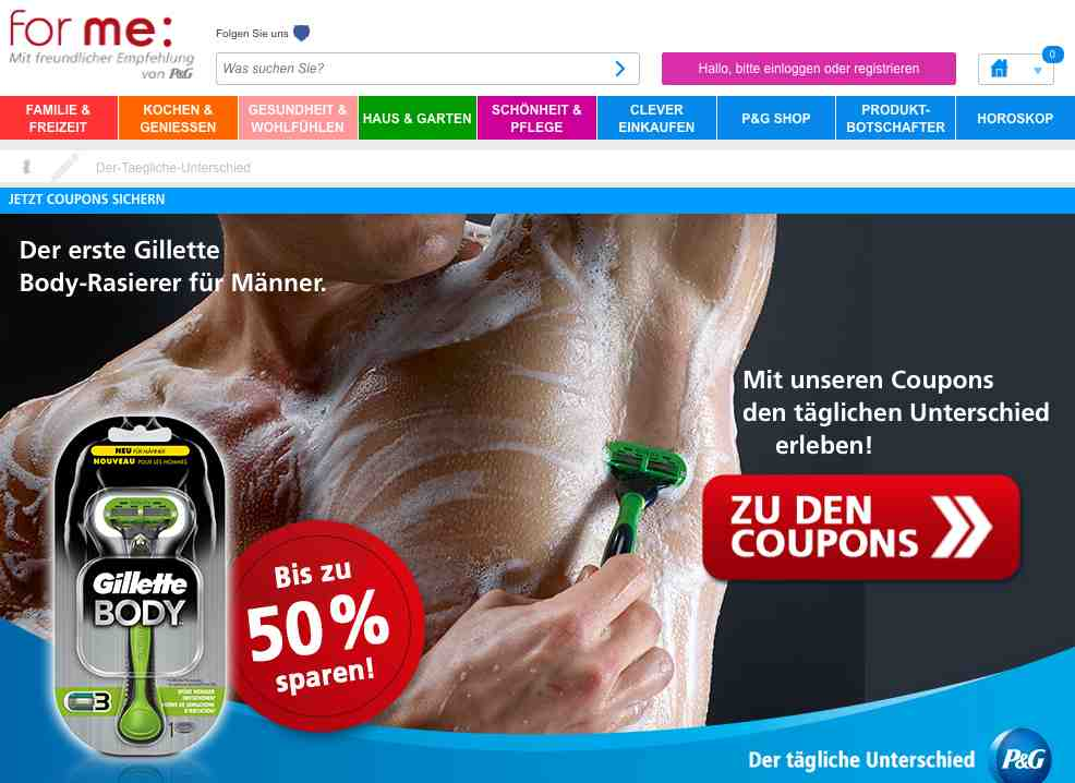 forme gillette coupon aktion