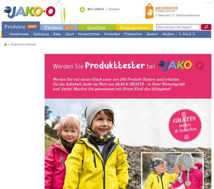 JAKO-O produkttester gesucht