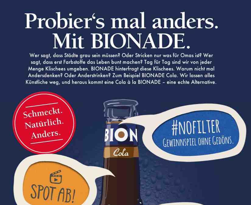 bionade cola gewinnspiel