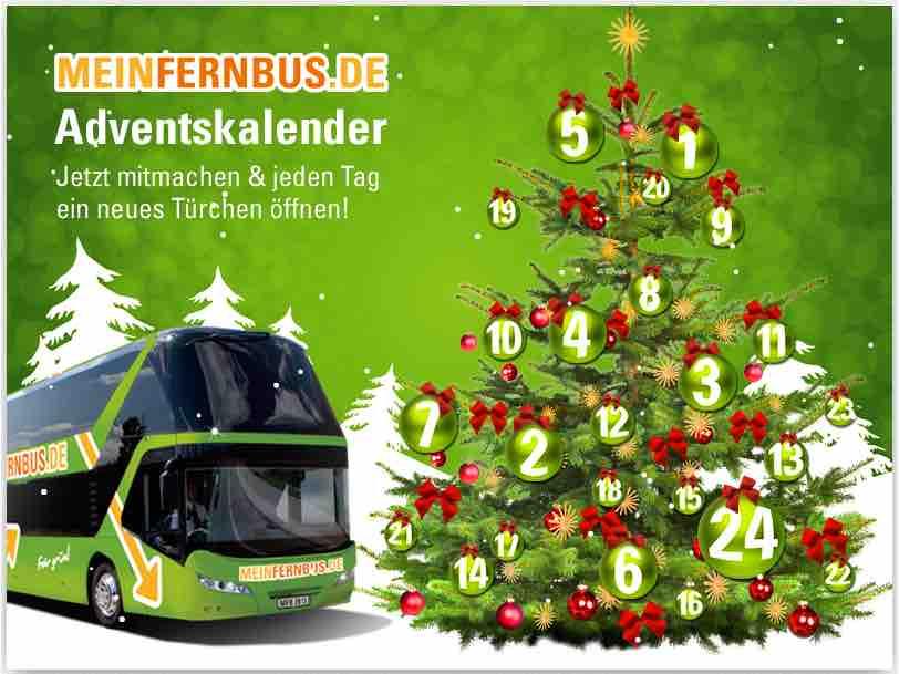 meinfernbus online adventskalender gewinnspiel