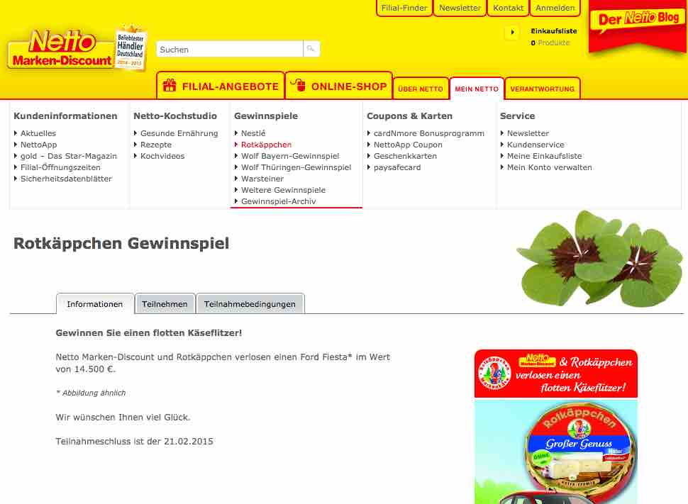 online adventskalender netto