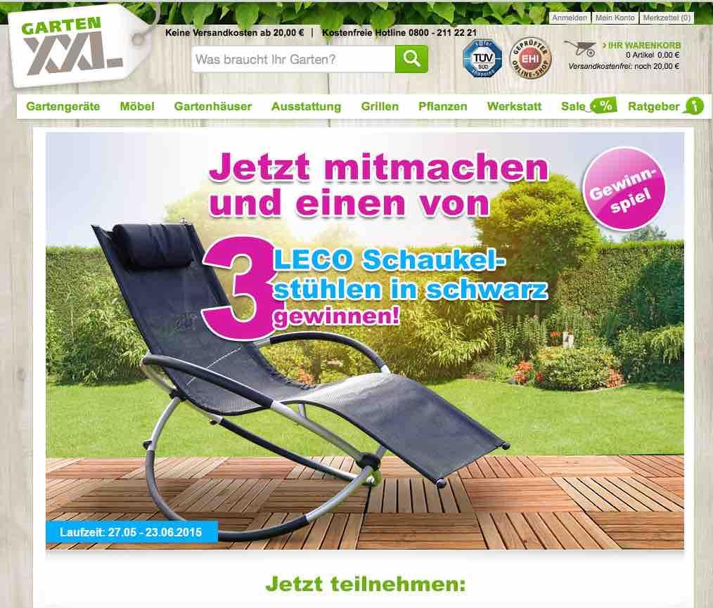Garten XXL Schaukelstuhl Gewinnspiel - ichwilltesten.de on