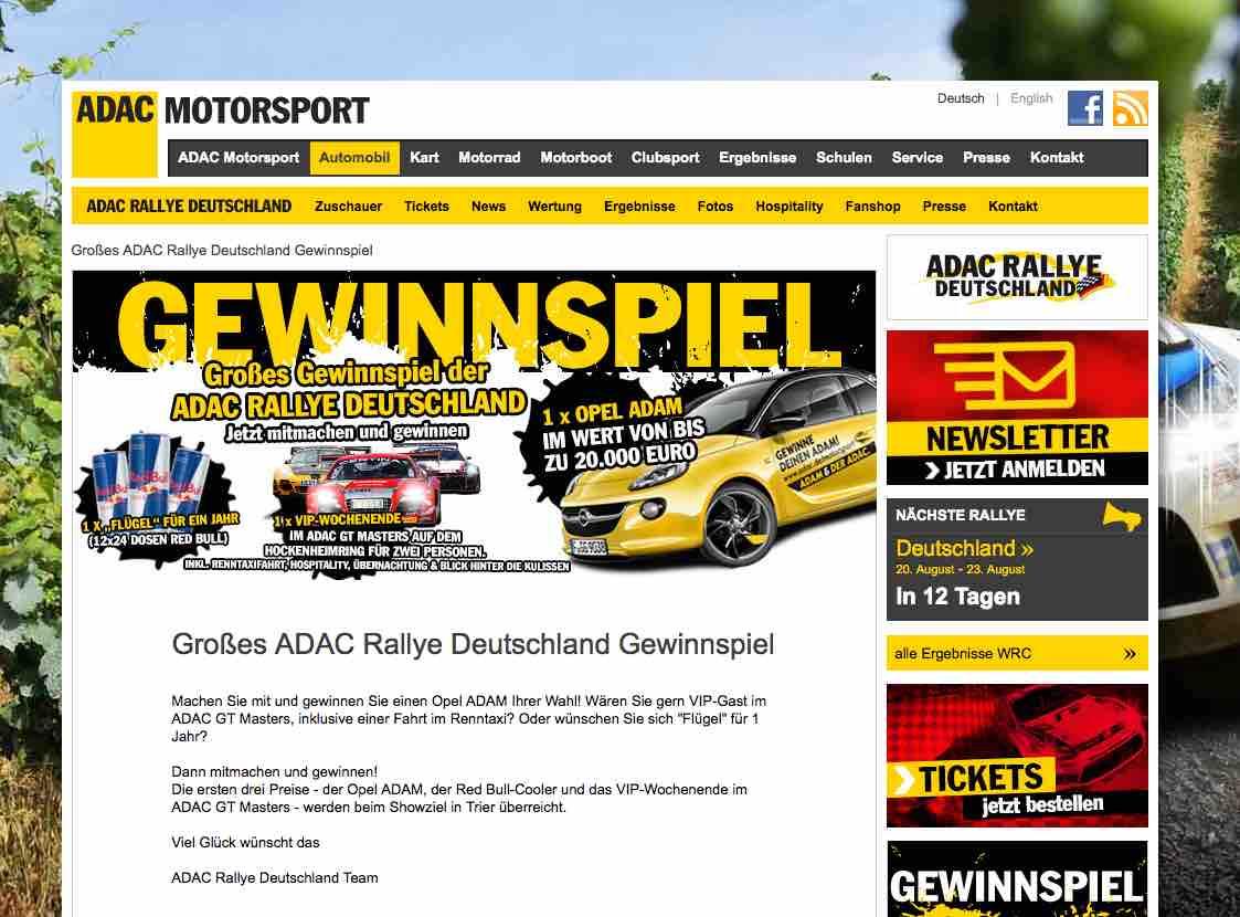 Gewinnspiel Opel Adam