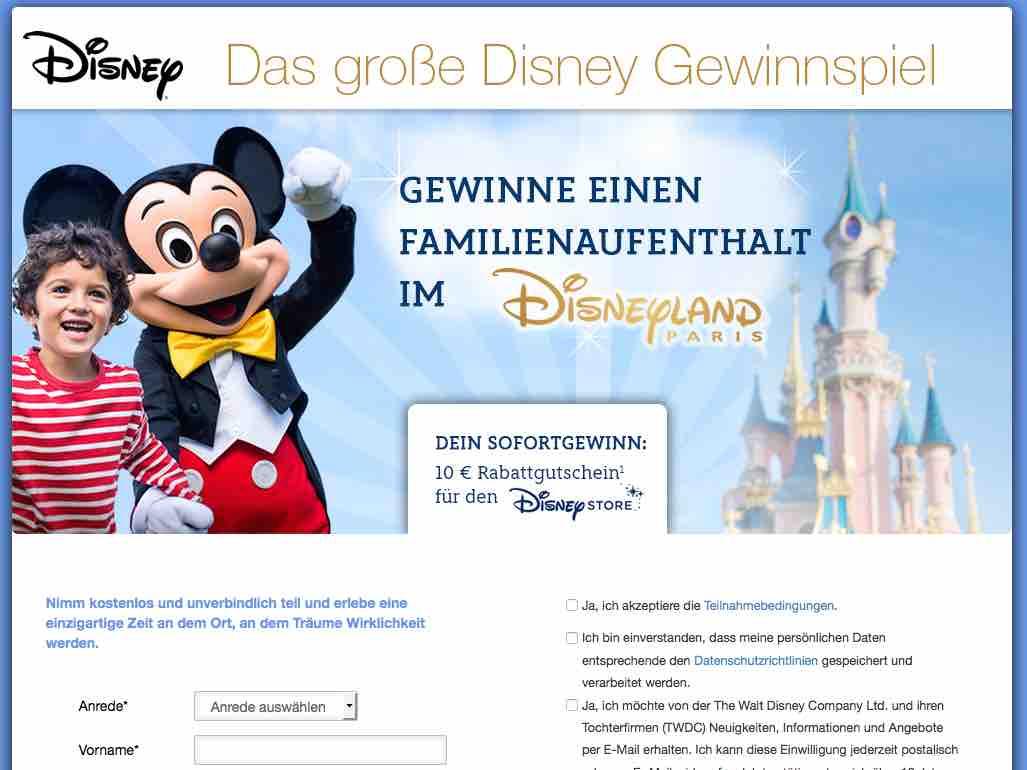 Gewinnspiel.Disneylandparis.De