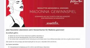 Madonna Ticket Gewinnspiel