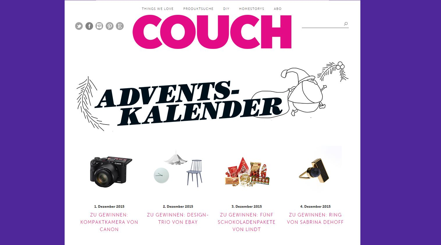 couch online adventskalender 2015. Black Bedroom Furniture Sets. Home Design Ideas