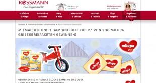 Rossmann milupa Bambino Bike Gewinnspiel