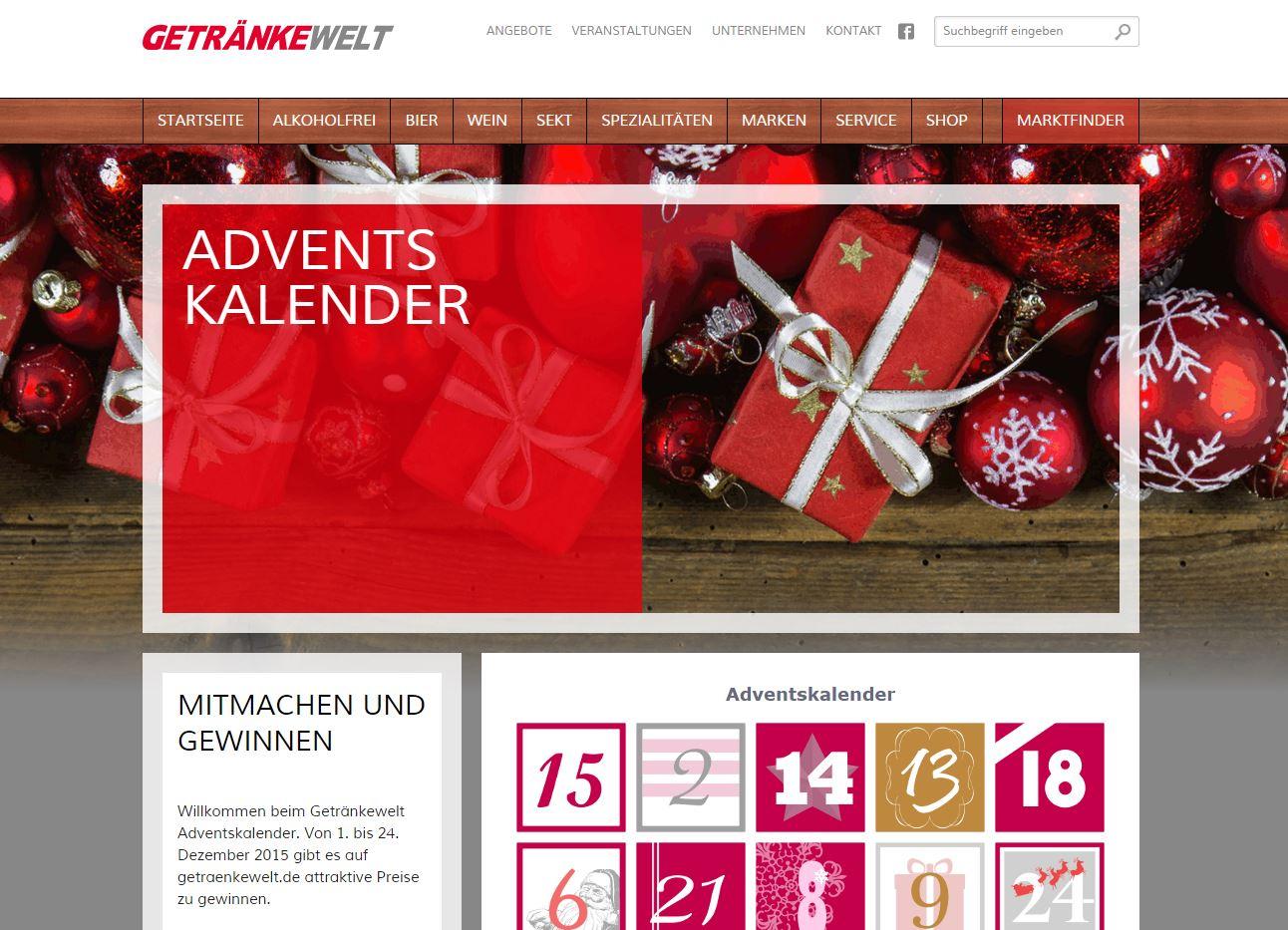 Getränkewelt Adventskalender Gewinnspiel - ichwilltesten.de