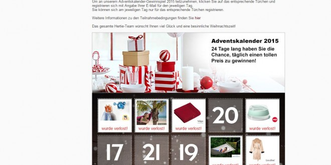 online adventskalender 2015 gewinnspiel. Black Bedroom Furniture Sets. Home Design Ideas