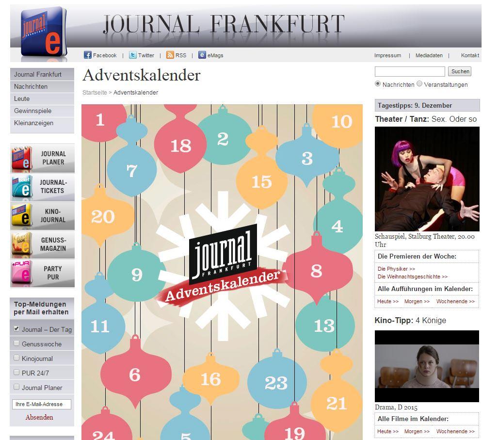 Journal Frankfurt Adventskalender