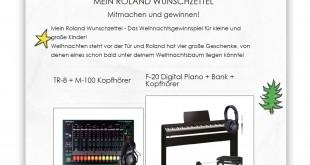Roland Musik Weihnachtsgewinnspiel 2015