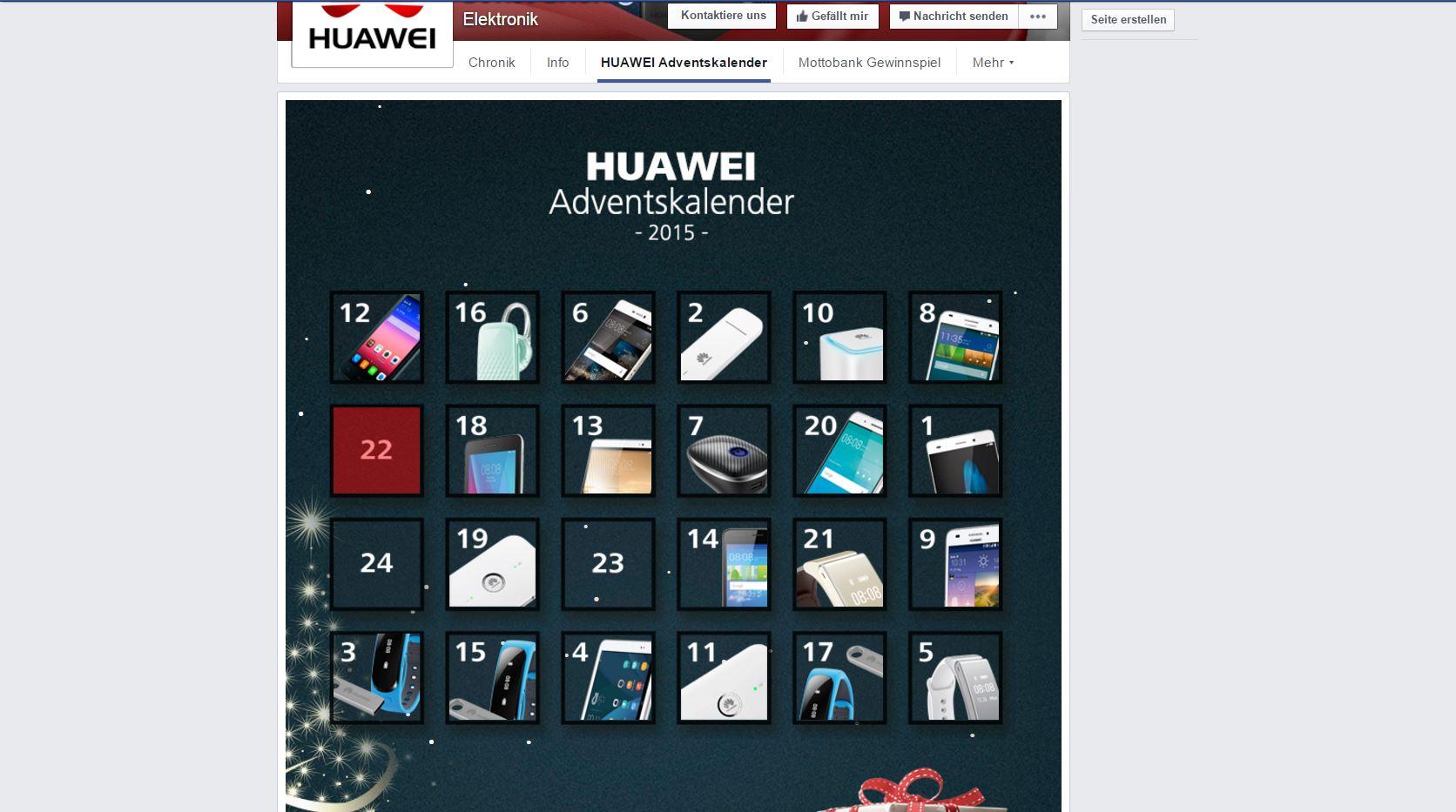 huawei adventskalender facebook adventskalender online adventskalender technik gewinnspiele. Black Bedroom Furniture Sets. Home Design Ideas