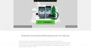 radio.de Weihnachtsgewinnspiel 2015