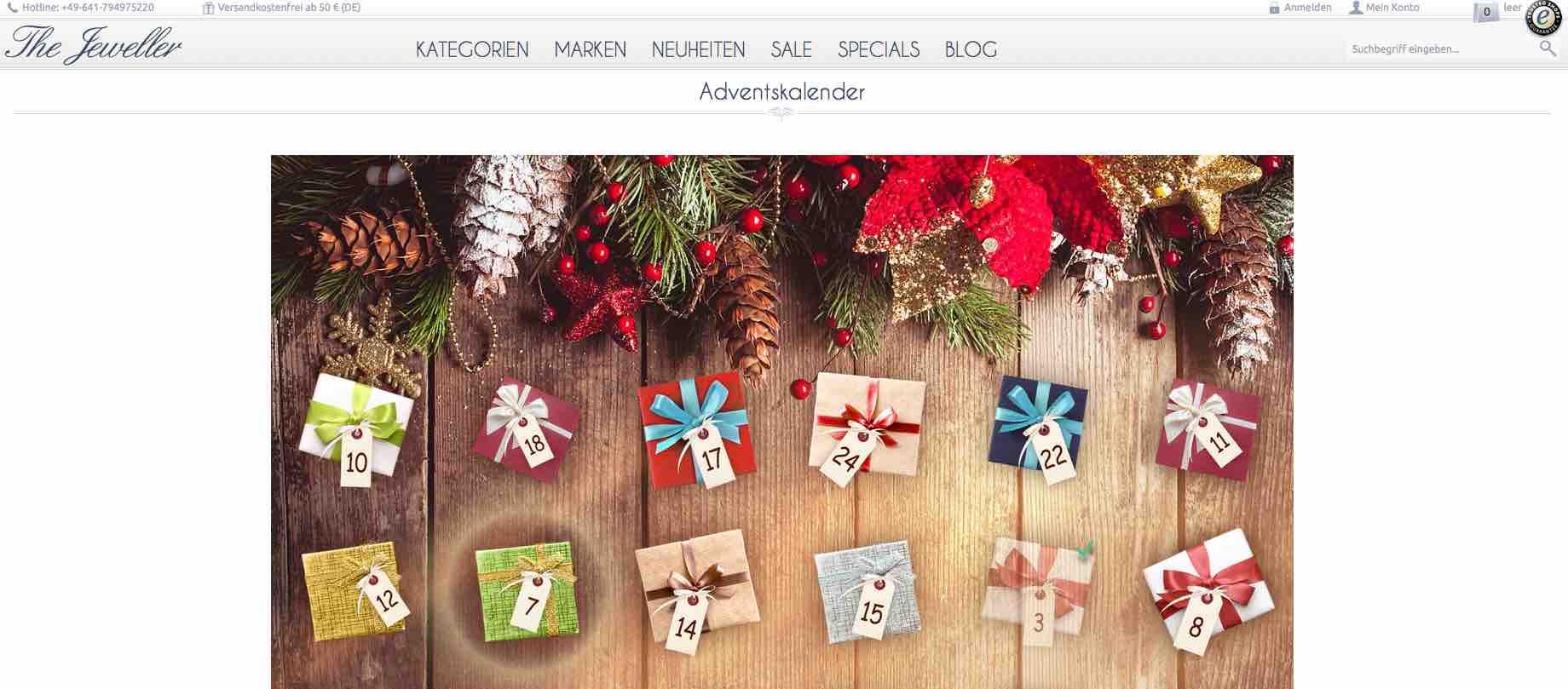 the jeweller daily christmas gifts adventskalender online. Black Bedroom Furniture Sets. Home Design Ideas