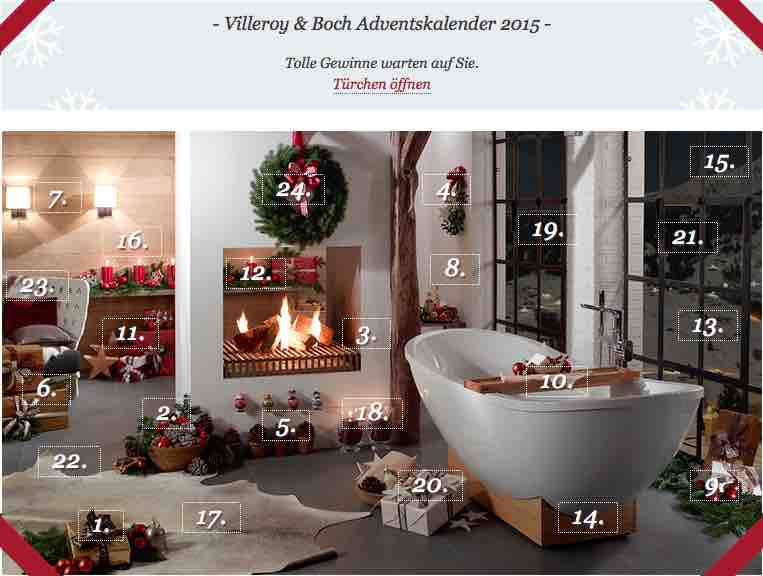 villeroy boch adventskalender. Black Bedroom Furniture Sets. Home Design Ideas