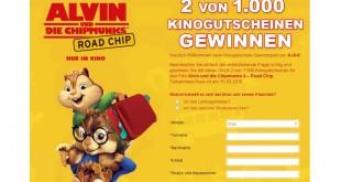 Ajax 'Alvin and the Chipmunks' Gewinnspiel