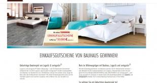 Logoclic swingcolor Bauhaus Gewinnspiel