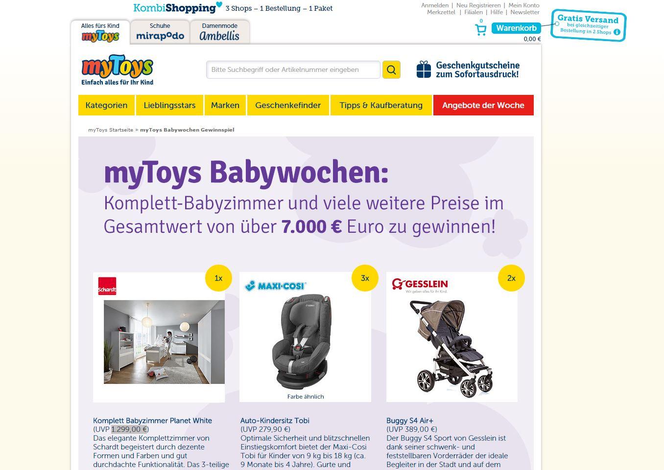 mytoys babywochen. Black Bedroom Furniture Sets. Home Design Ideas
