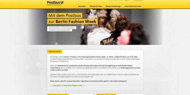 postbus gewinnspiel reise zur berlin fashion week. Black Bedroom Furniture Sets. Home Design Ideas
