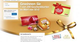 real Ferrero Gewinnspiel