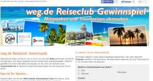 weg.de Reiseclub Gewinnspiel