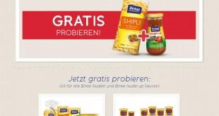 Birkel Nudeln + Sauce Gratisprobe