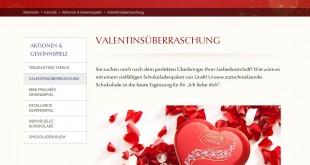 Lindt Valentinstag Gewinnspiel