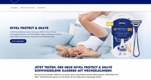 NIVEA Protect & Shave Produkttesterin