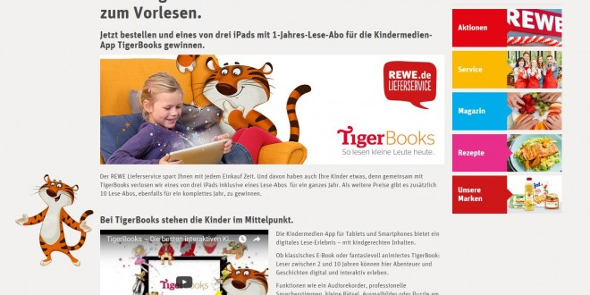 rewe tigerbooks gewinnspiel. Black Bedroom Furniture Sets. Home Design Ideas