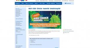 Toys'R'Us Kids' Choice Awards Reise Gewinnspiel