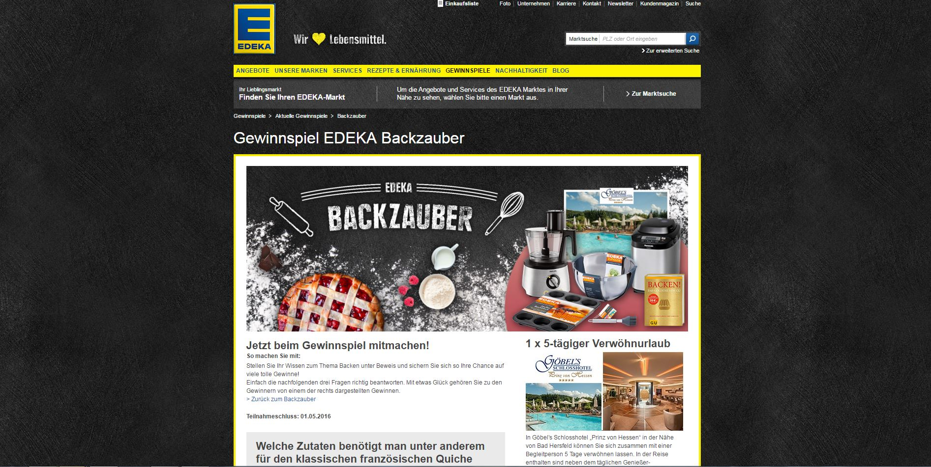 edeka backzauber gewinnspiel wellness reise gewinnen. Black Bedroom Furniture Sets. Home Design Ideas