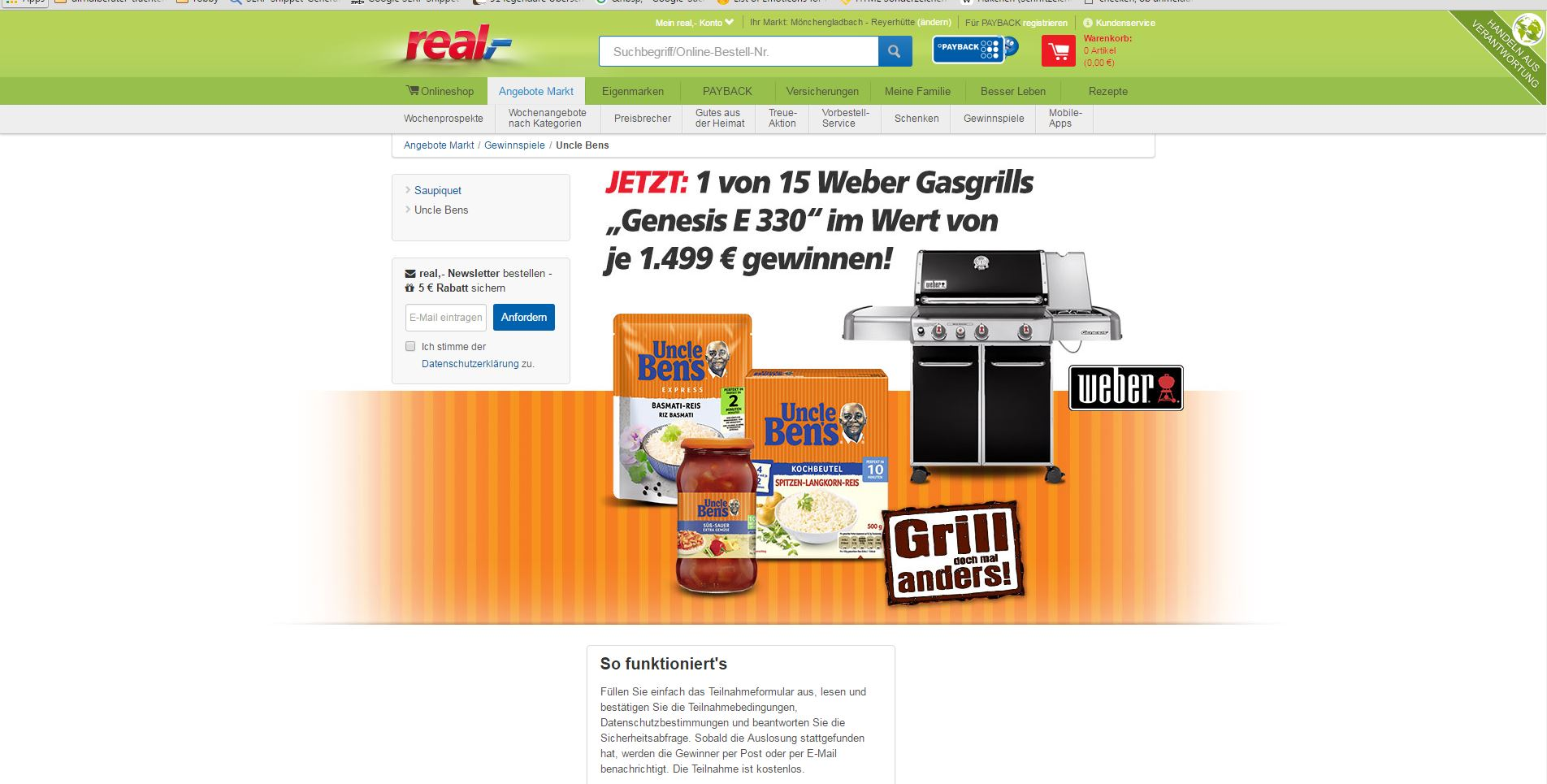 weber gasgrill angebot good weber grill kugelgrill one. Black Bedroom Furniture Sets. Home Design Ideas