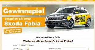 Sconto Möbel Auto Gewinnspiel