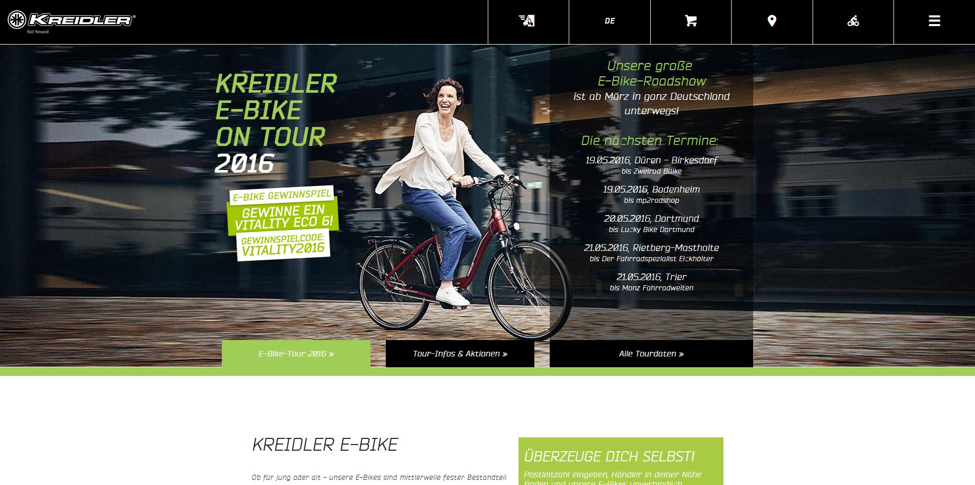 kreidler gewinnspiel e bike vitality eco 6 gewinnen. Black Bedroom Furniture Sets. Home Design Ideas