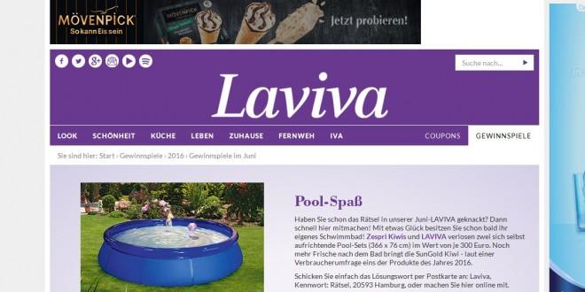 Laviva Com Gewinnspiele gartenpool gewinnen beim laviva gewinnspiel ichwilltesten de