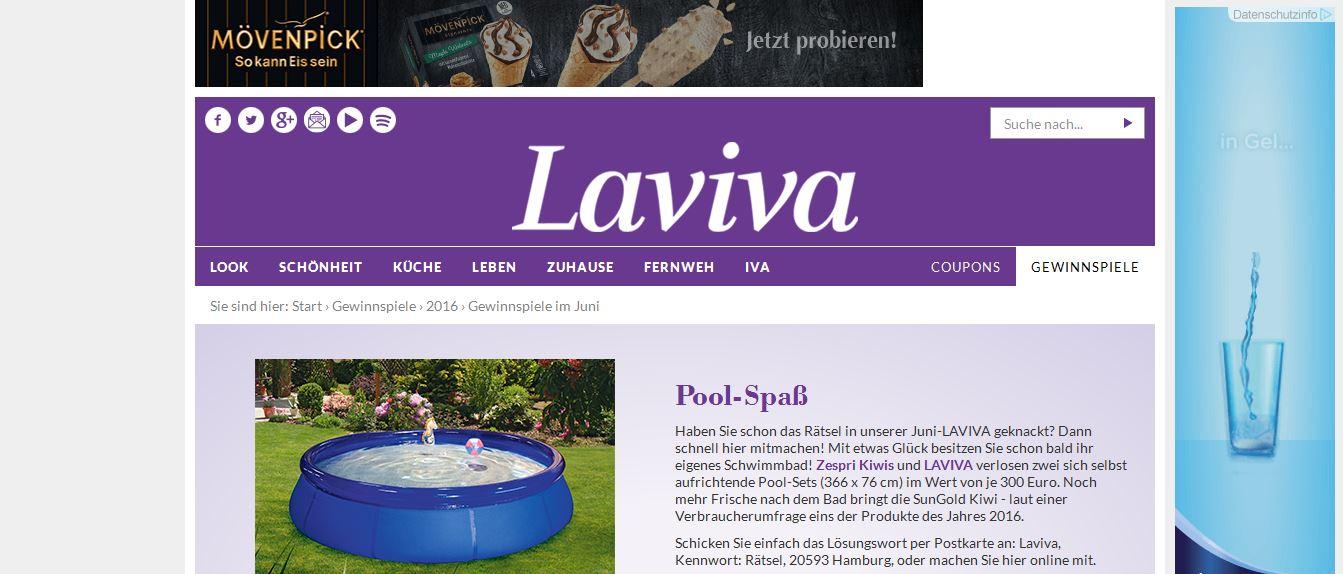 Laviva gewinnspiel gartenpool gewinnen for Gartenpool netto