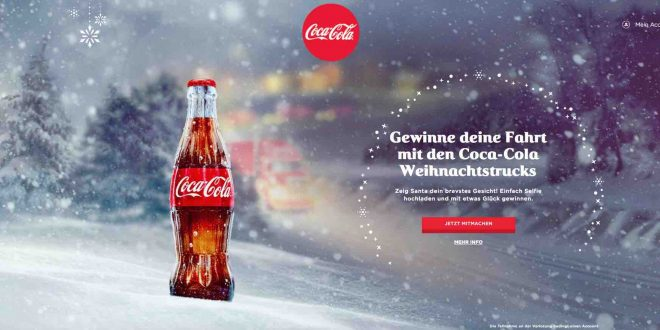gehe mit dem coca cola weihnachtstruck auf tour selfie gewinnspiel. Black Bedroom Furniture Sets. Home Design Ideas