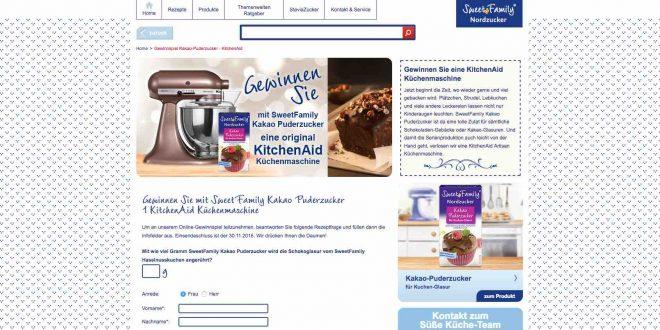 kitchenaid gewinnspiel sweet family nordzucker verlost den k chen star. Black Bedroom Furniture Sets. Home Design Ideas