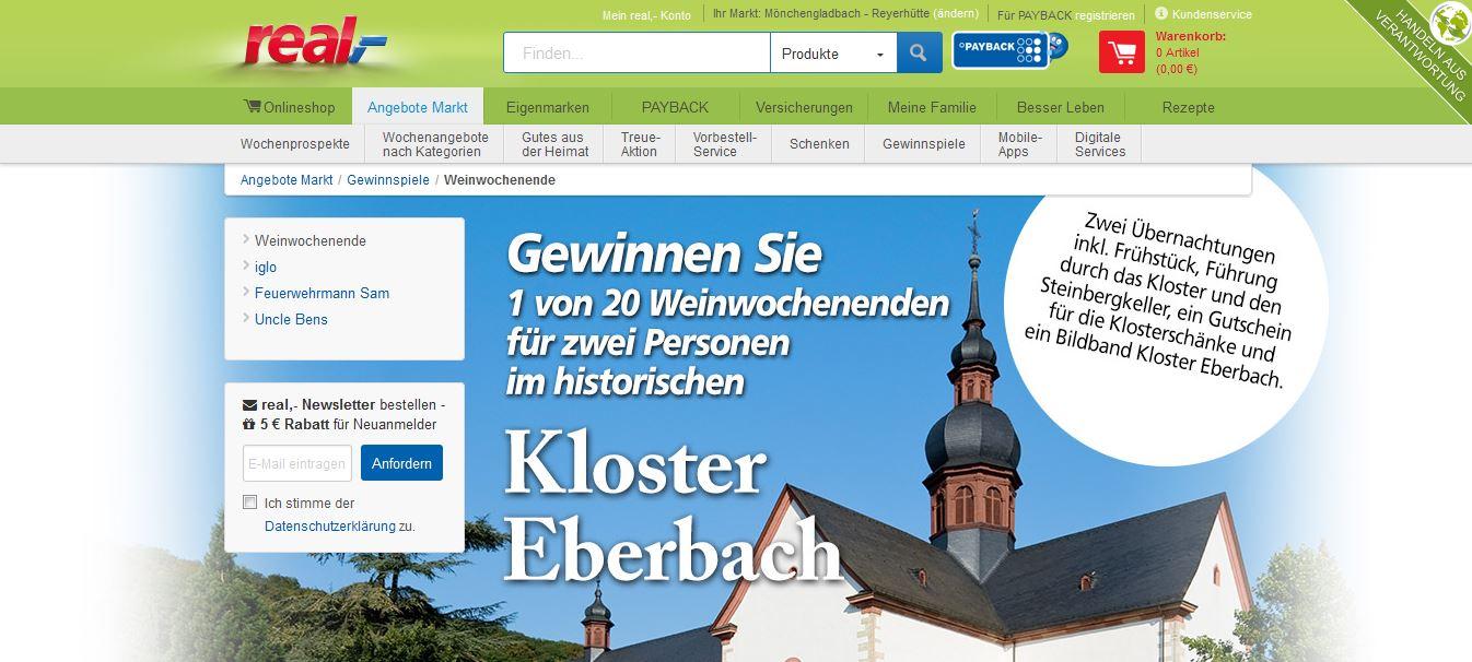 real reise gewinnspiel kloster eberbach weinwochenende. Black Bedroom Furniture Sets. Home Design Ideas