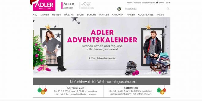 mode adler adventskalender gewinnspiel 2016 coupons verlosungen. Black Bedroom Furniture Sets. Home Design Ideas