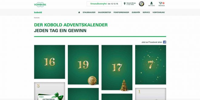 vorwerk kobold adventskalender gewinnspiel 2016. Black Bedroom Furniture Sets. Home Design Ideas