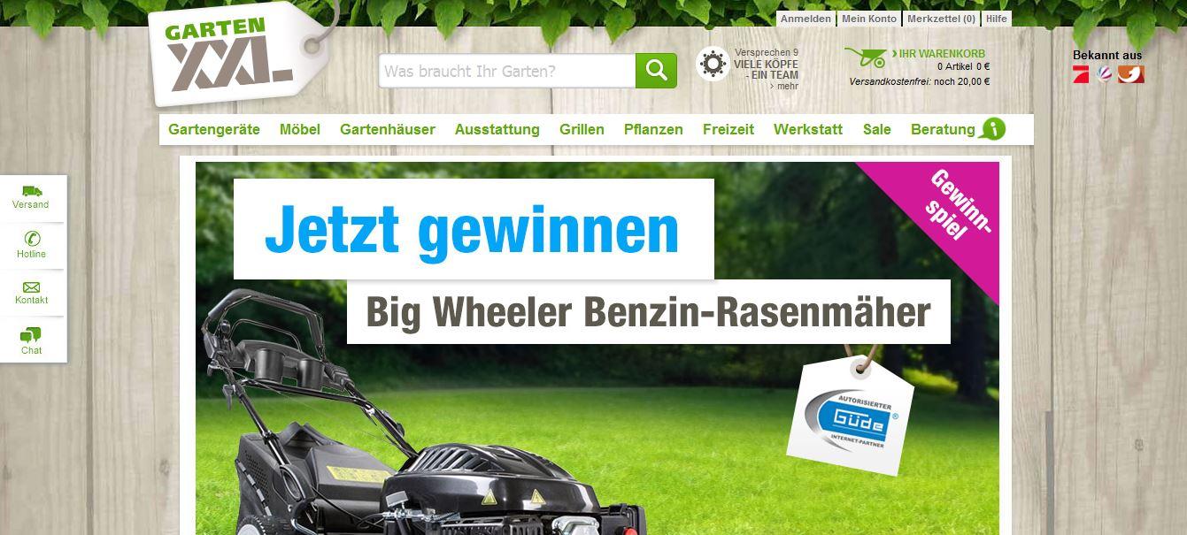 Big Wheeler Rasenmäher Gewinnspiel von Garten XXL | Mitmachen! on